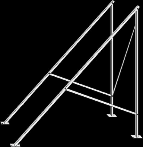 Flachdachständer für Zeus 9